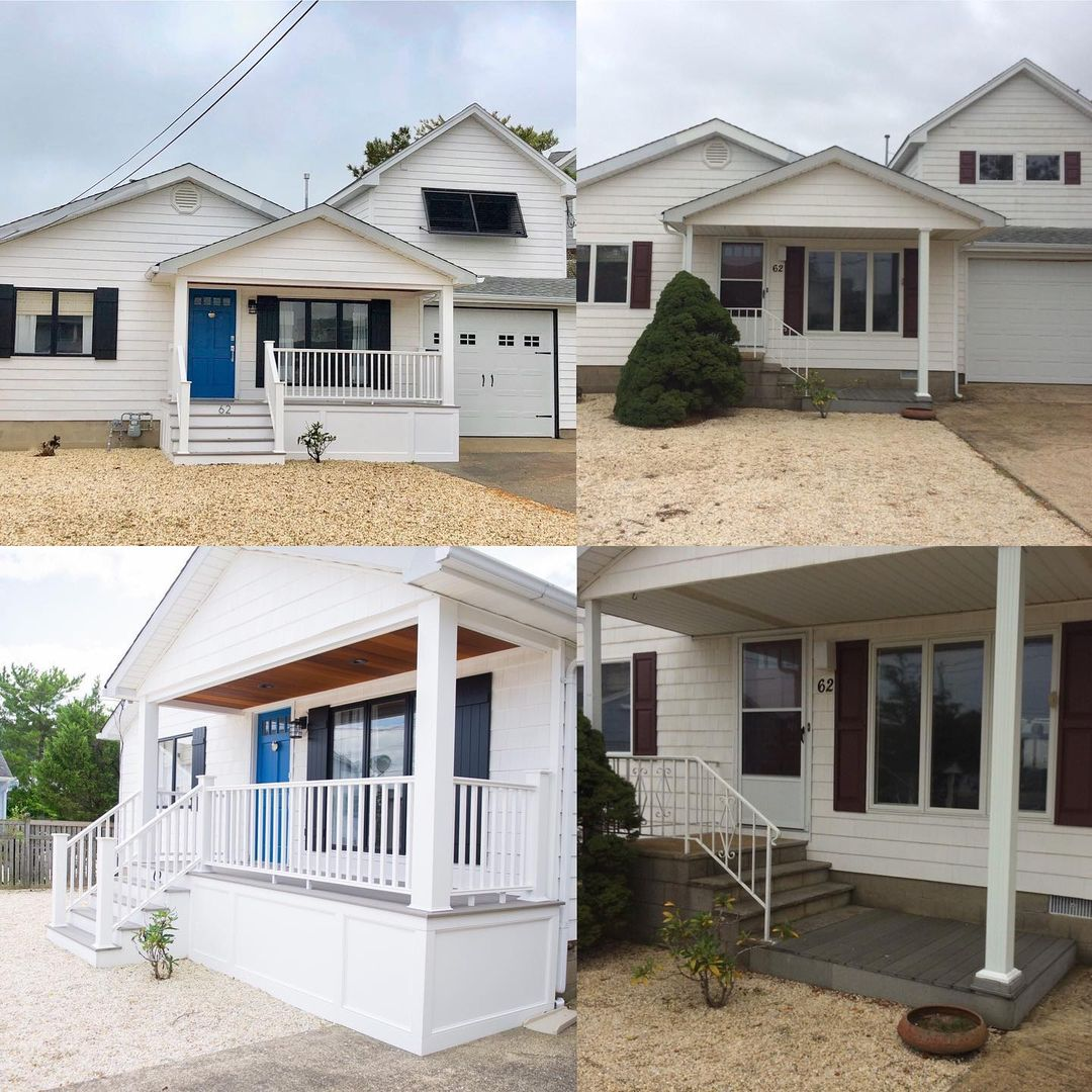 LBI Before and After pictures of a house we have renovated inside and out. The front…