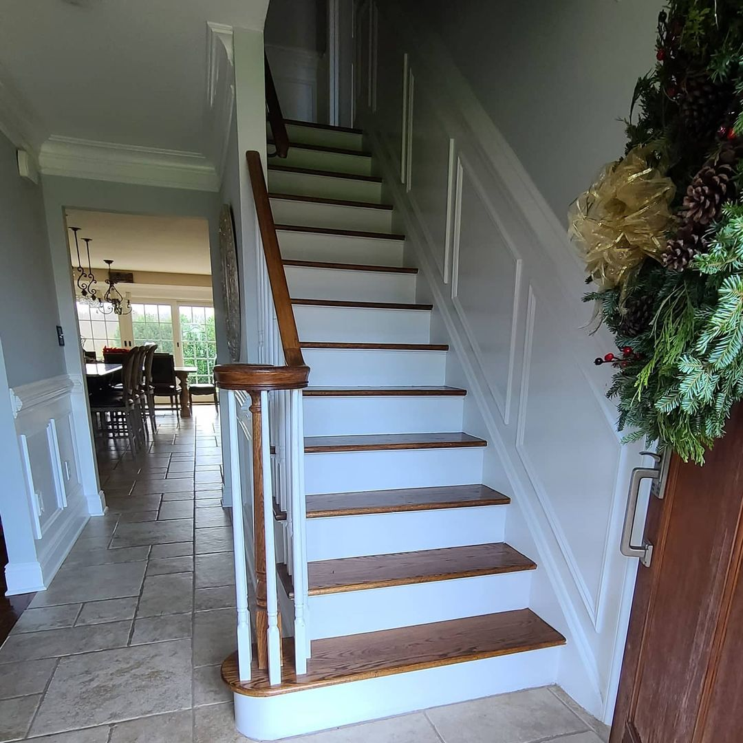 LBI Before and after swipe  to see it  note: replaced just the first stair tread and…