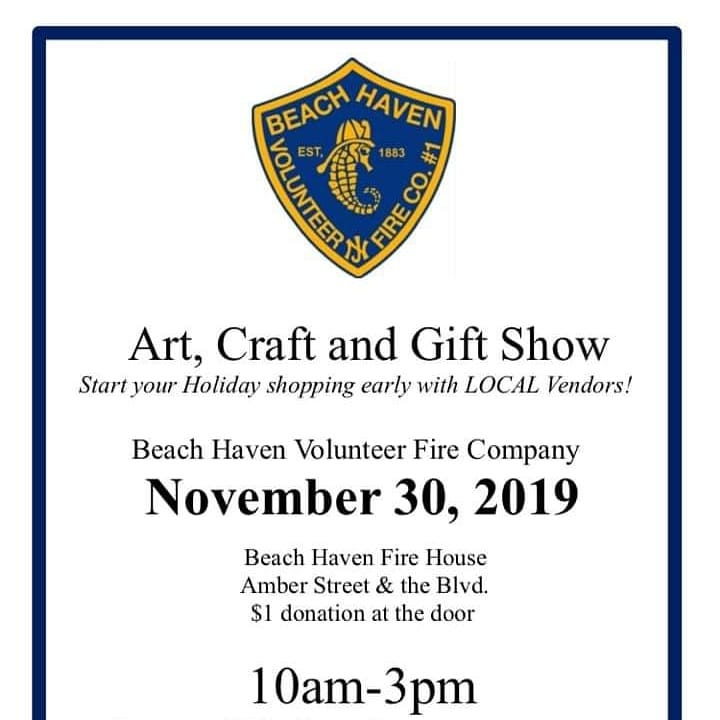 Read more about the article LBI Craft Show Tomorrow! 60 vendors of all kinds! BHVFC will be selling shirts, glas…