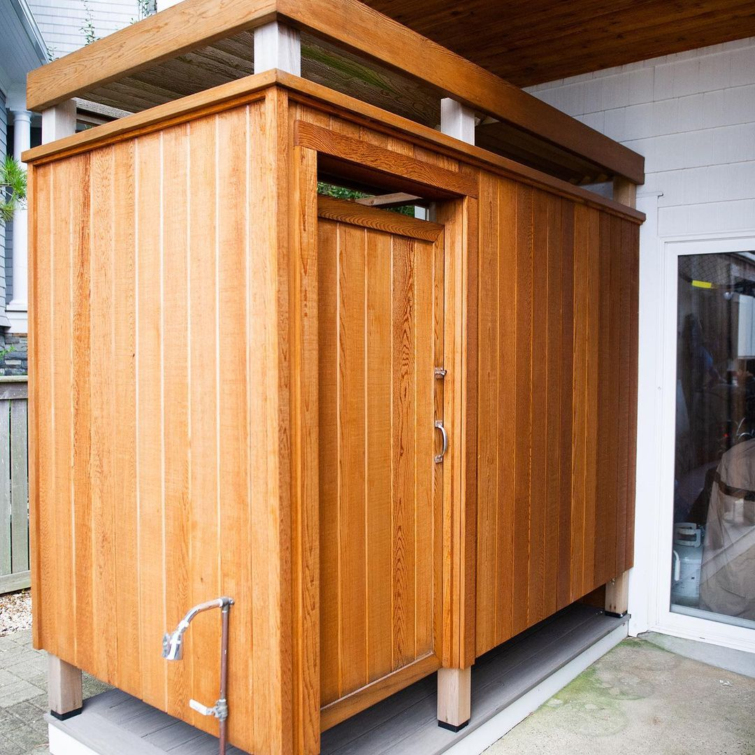 LBI I love using outdoor cedar showers into the fall months. This one is all cedar i…