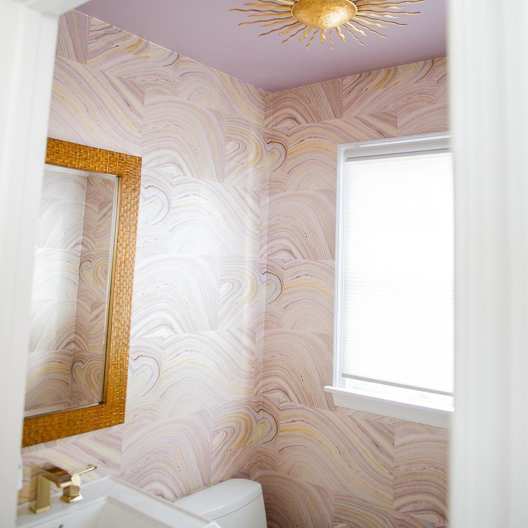 LBI Our customer wanted to transform a bland powder room into something fabulous. So…