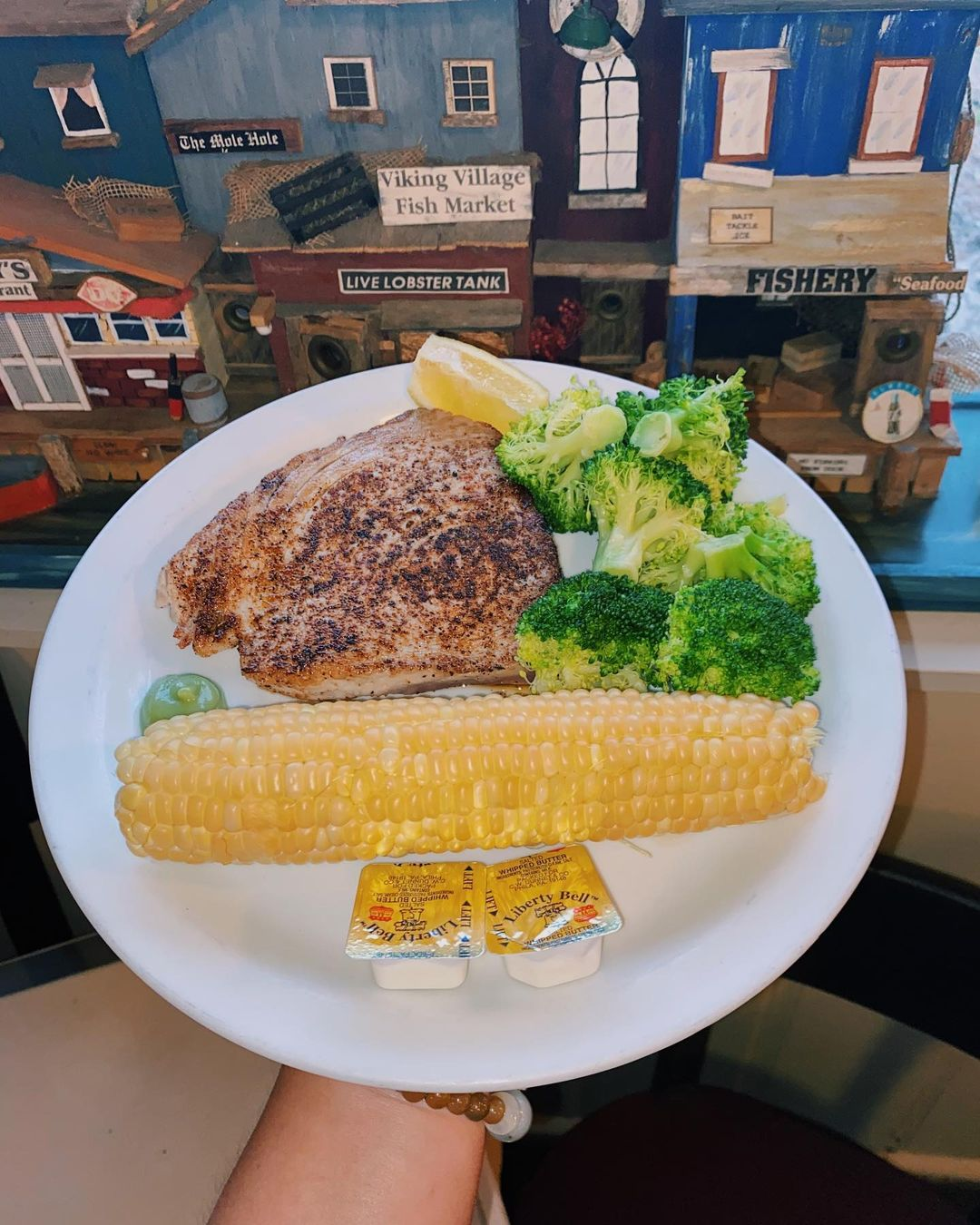 LBI Viking Village Fresh pictured here is yellowfin tuna cooked blackened style and …