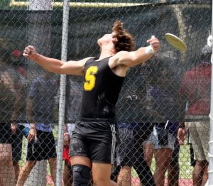 Southern Regional Sophomore Snatches State Discus Championship