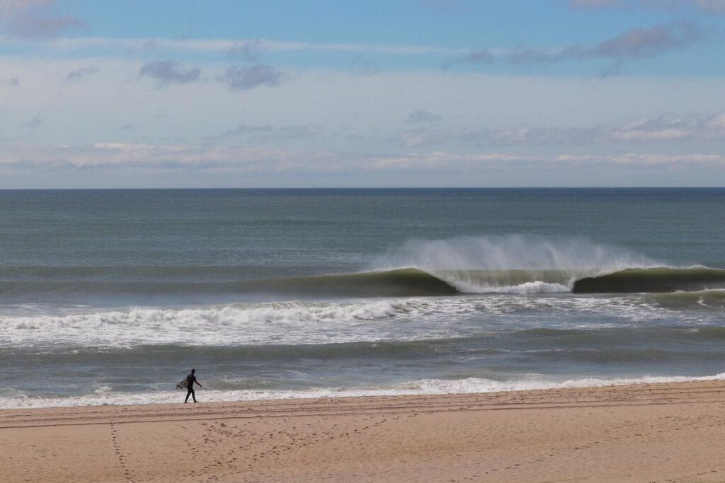 Perfect waves New Jersey surfing