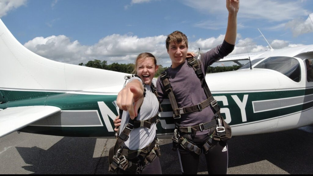 Read more about the article Getting Pushed Out of Our Comfort Zone – and a Plane – at Skydive East Coast